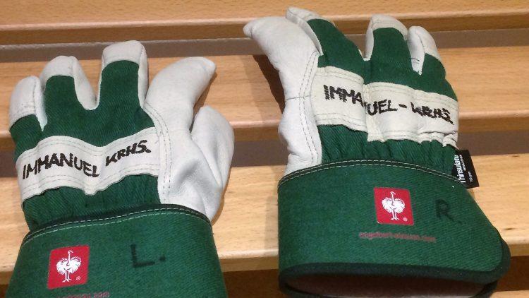 Handschuhe im Immanuel Krankenhaus Berlin.
