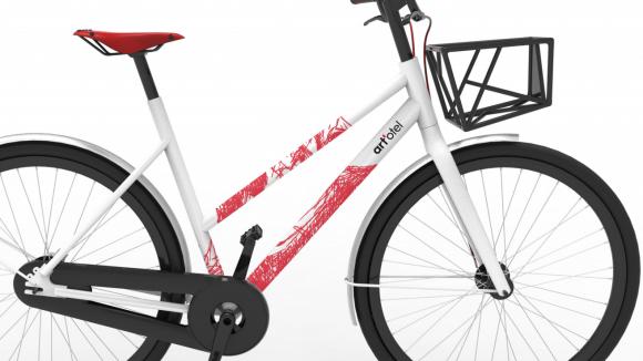 art'otel Mitte - Rad mit einem Kunstwerk