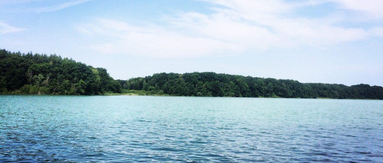 Der Sacrower See im Naturschutzgebiet Königswald in Potsdam.