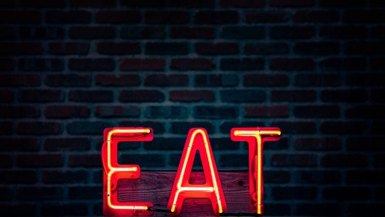 EAT-Leuchtschild in Rot