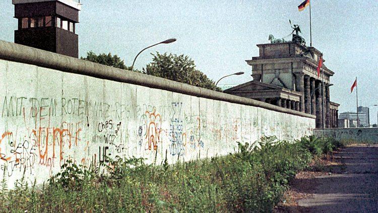 Die Mauer 1984 am Brandenburger Tor.