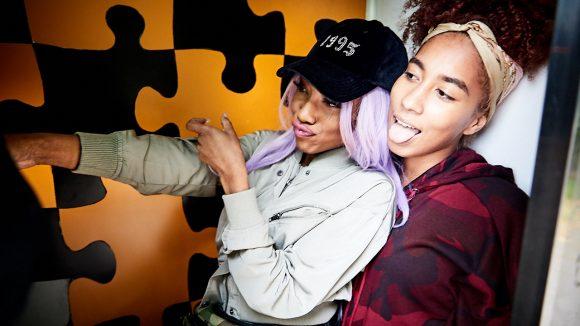 Eunique und Apo in einer Fotobox