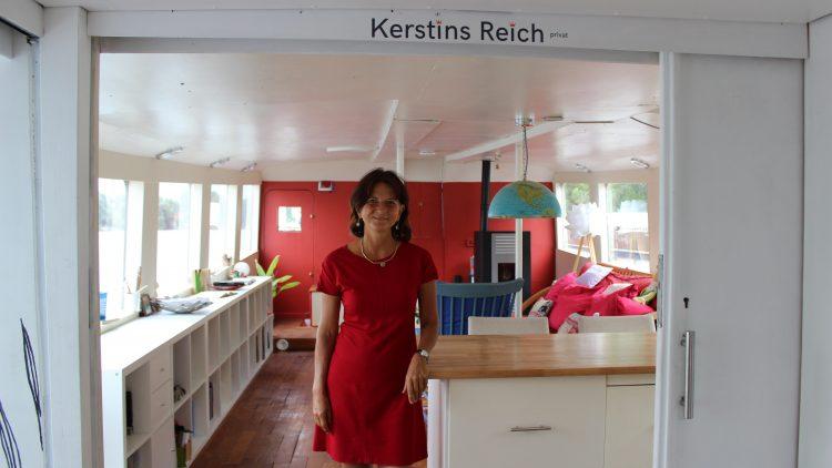 Der Traum vom eigenen Hausboot: Wir waren in Oberschöneweide bei Kerstin Hack zu Besuch.