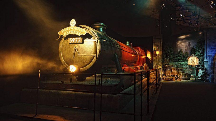 Der Hogwarts Expresss in der Ausstellung
