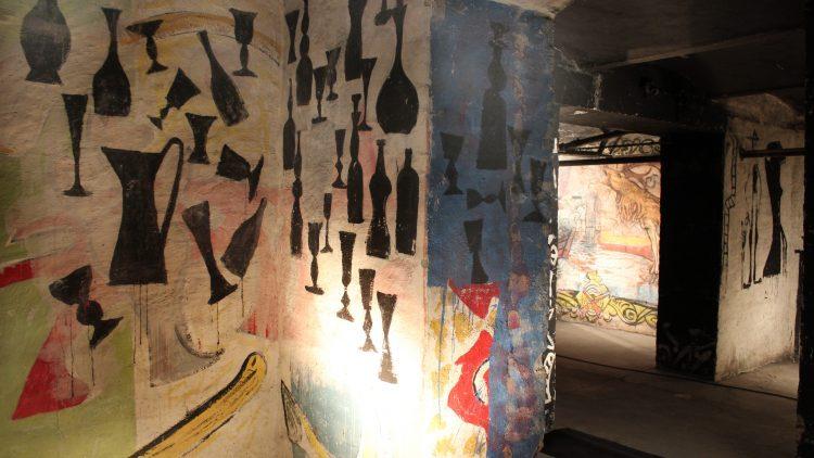 Die Wandmalereien im Keller der Akademie der Künste.