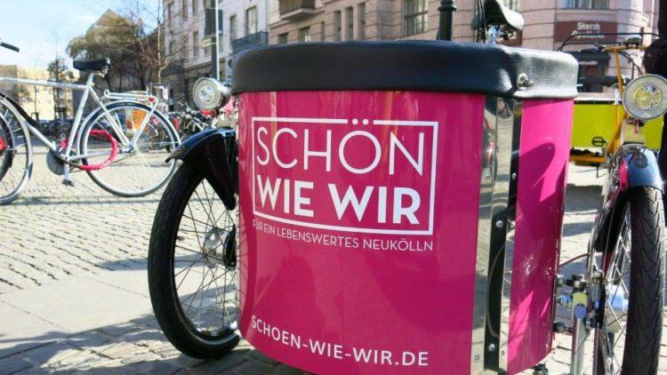 Eines von sieben neuen, teils elektrischen Lastenrädern im Bezirk Neukölln.