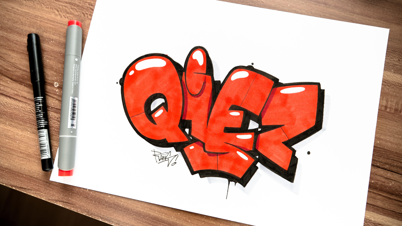 Qiez als Sketch von Raws