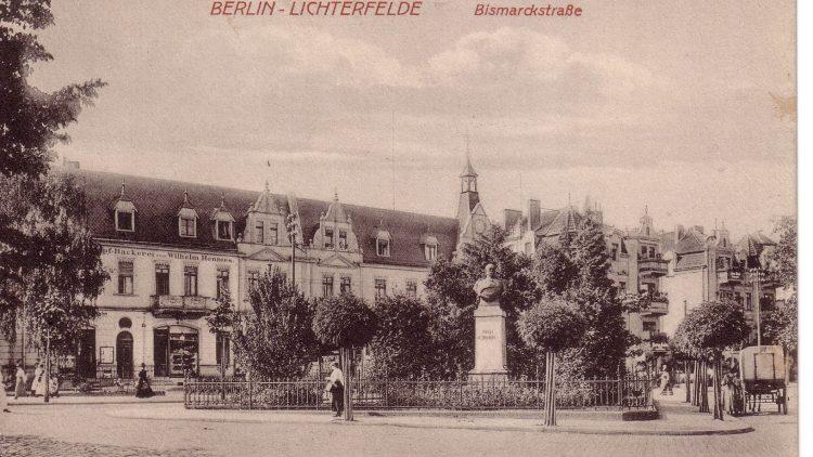 Postkarte von der Bismarckstraße