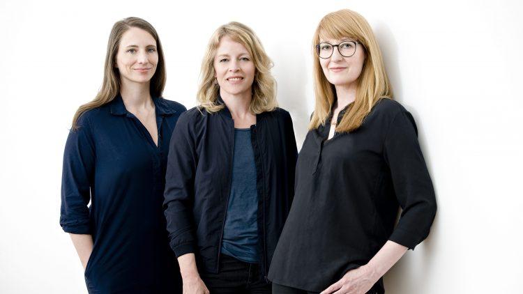 HIMBEER-Gründerinnen Anja Ihlenfeld, Esther Bauer und Claudia Steigleder