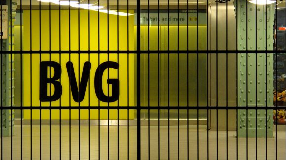 Geschlossene U-Bahnstation der BVG
