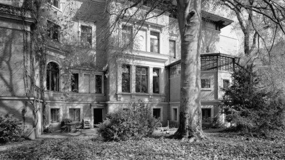 Schönes Altbauhaus mit Baum davor