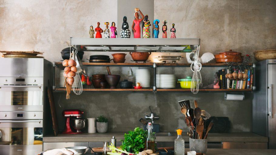 Küche im Atelier Culinário