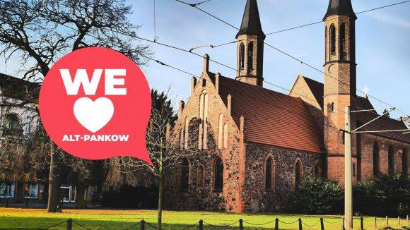 Die alte Dorfkirche in Alt-Pankow heißt heute Alte Pfarrkirche und steht in der Breiten Straße.