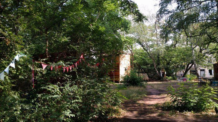 Wald und Minihaus aus Holz
