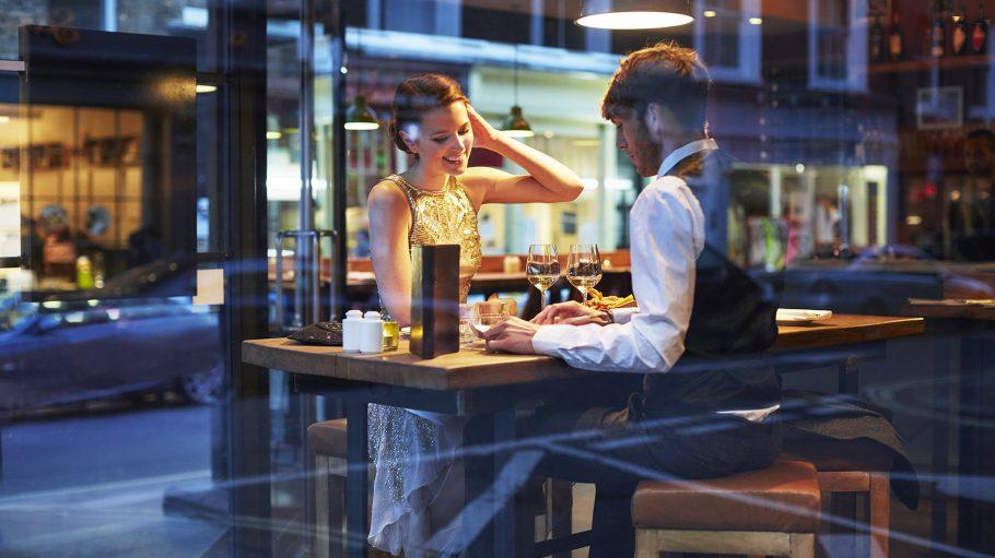 Paar im Restaurant