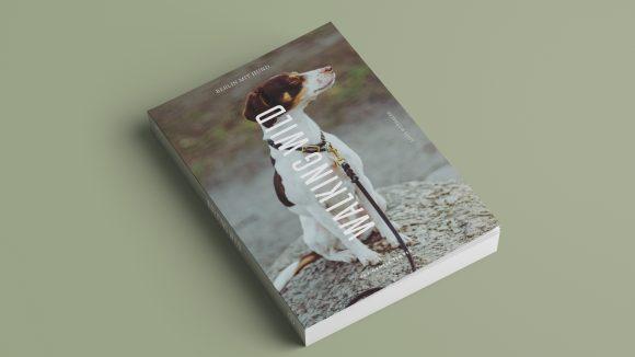 Ein Buchcover mit Hund an der Leine.