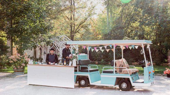 Hochzeit Minibar im Freien