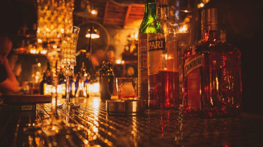 Tresen einer Bar
