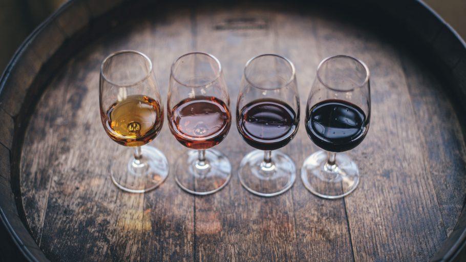 Vier Weingläser