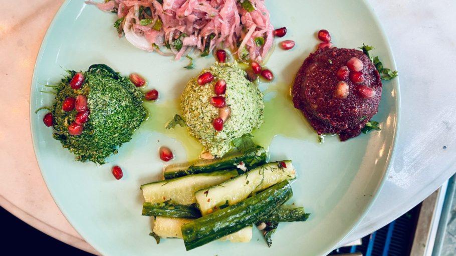Vorspeisen beim georgischen Restaurant Kin-Za in Berlin Mitte