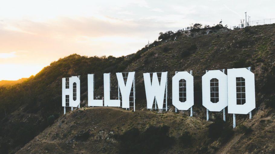 Hollywood Zeichen auf dem Berg in L.A.