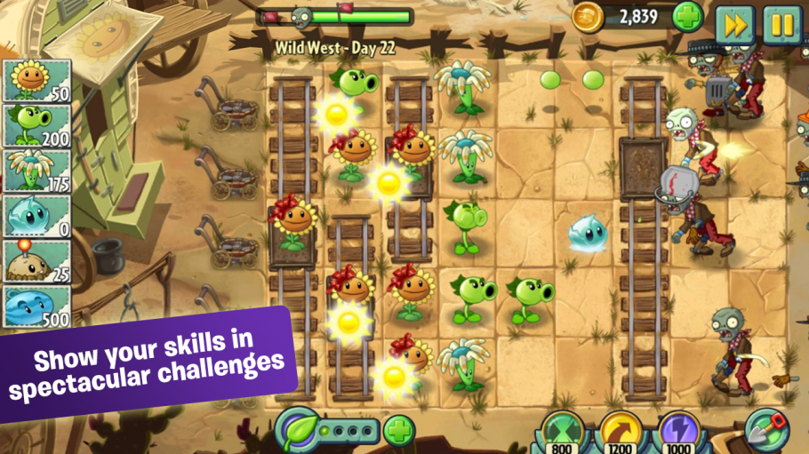 Screenshot von Spiele-App Plants vs Zombies