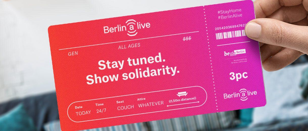 Um Berliner Kultur live zu erleben, brauchst du gerade keine Tickets. Nur den richtigen Livestream.