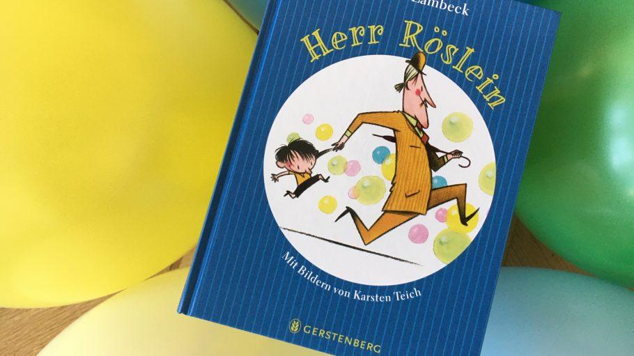 Herr Röslein Kinderbuch auf Luftballons