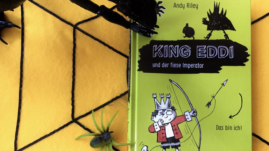 King Eddie Kinderbuch auf Spinnennetz