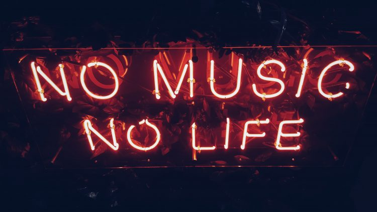 Neonschild: No Music, No Life