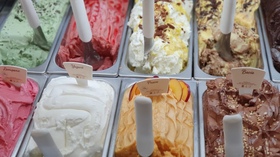 variety of ice creams