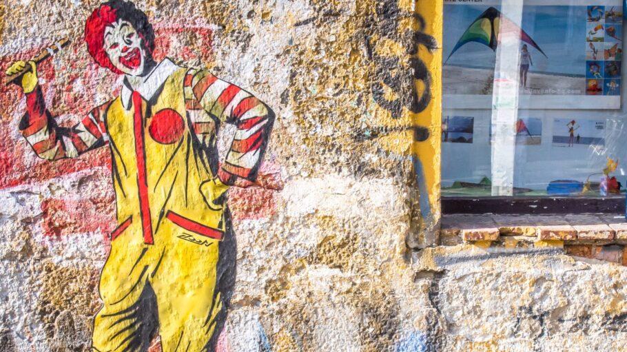 Graffity auf der Wand