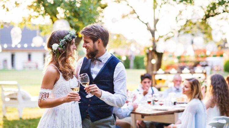 Paar zur Hochzeit