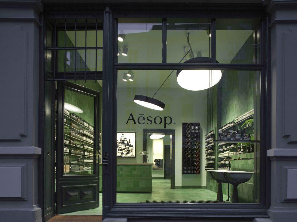 Der erste deutsche Store von Aesop in überzeugendem Design.
