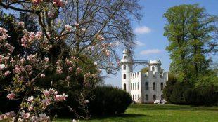 Das Naturparadies Pfaueninsel. Das Schloss ist im Stil eines römischen Landhauses erbaut.