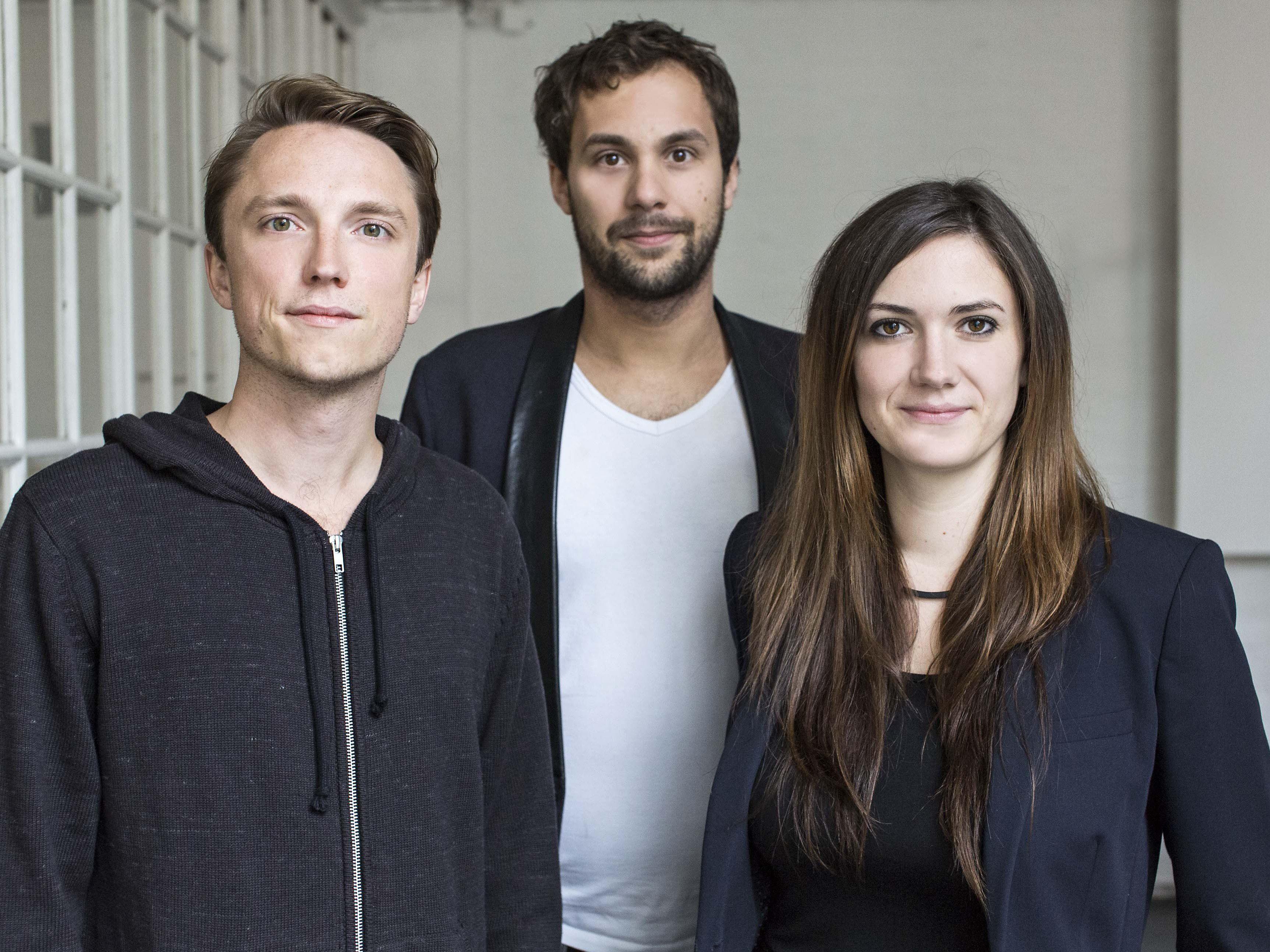 Die Gründer von desendo: Paul Filipow, Michael Gnamm und Monique Hoell.