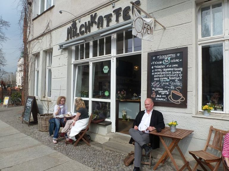 Das beliebteste Kiezcafé der Köpenicker Altstadt in der Kirchstraße.