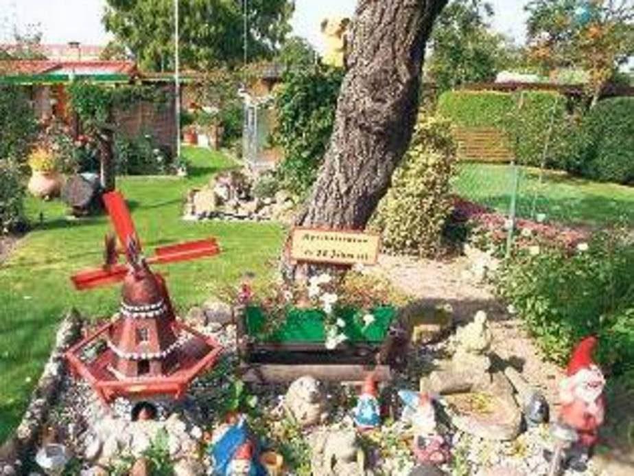 Platz für Kleinkram findet sich in der größten Wilmersdorfer Kleingartenkolonie auch.