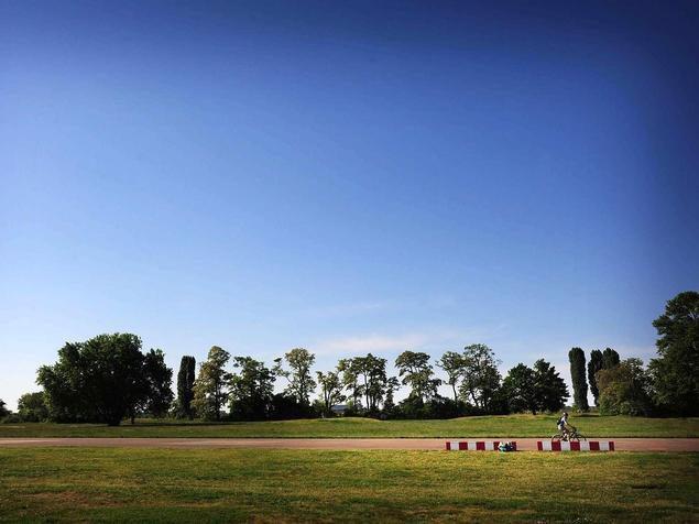 Blick aufs Tempelhofer Feld.