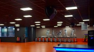 FitX Fitnessstudio Berlin-Tempelhof: Der Kursraum.