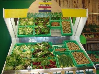 Der Vierfelderhof in Gatow ist ein Bio-Bauernhof mit Verkauf direkt vor Ort und eigenem Hofcafé.